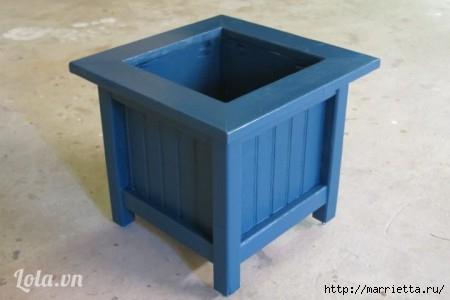 Деревянная кадка для цветов. Своими руками для сада (13) (450x300, 60Kb)
