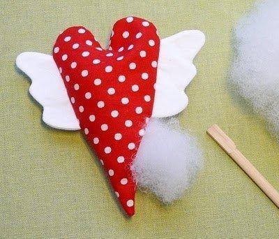 Сердечки из ткани своими руками. Мягкие игрушки / Тильда, мягкие игрушки своими руками, выкройки / КлуКлу. Рукоделие - бисеропле