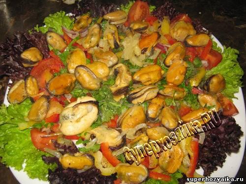 греческий салат с красной рыбой рецепт