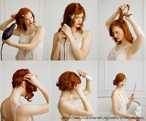 Как сделать прическу на средние волосы самой