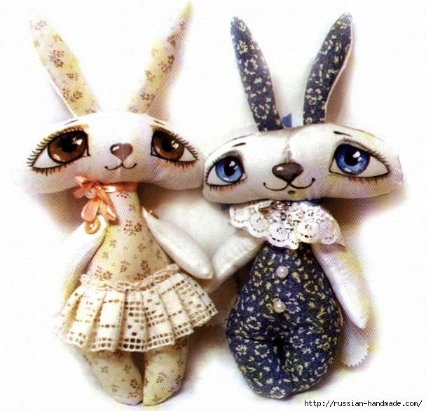 Замечательные пасхальные зайцы. Шьем сами (1) (608x586, 248Kb)