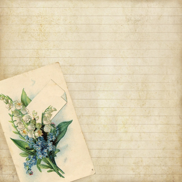 8x8 lined floral notecard paper ~ lilac-n-lavender (700x700, 339Kb)