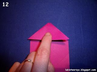 Сердечки-валентинки оригами из бумаги для украшения подарка (12) (320x240, 46Kb)