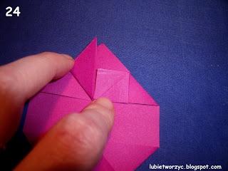 Сердечки-валентинки оригами из бумаги для украшения подарка (26) (320x240, 52Kb)