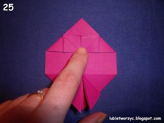 Сердечки-валентинки оригами из бумаги для украшения подарка (28) (320x240, 47Kb)