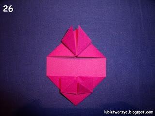 Сердечки-валентинки оригами из бумаги для украшения подарка (30) (320x240, 46Kb)