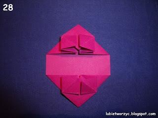 Сердечки-валентинки оригами из бумаги для украшения подарка (32) (320x240, 42Kb)