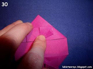 Сердечки-валентинки оригами из бумаги для украшения подарка (34) (320x240, 58Kb)