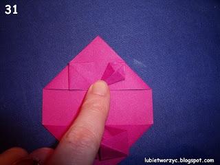 Сердечки-валентинки оригами из бумаги для украшения подарка (36) (320x240, 54Kb)