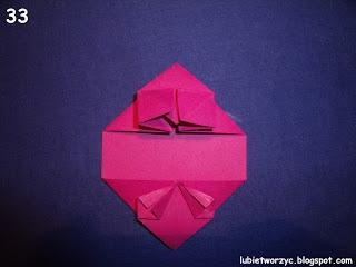 Сердечки-валентинки оригами из бумаги для украшения подарка (38) (320x240, 40Kb)