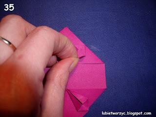 Сердечки-валентинки оригами из бумаги для украшения подарка (40) (320x240, 51Kb)