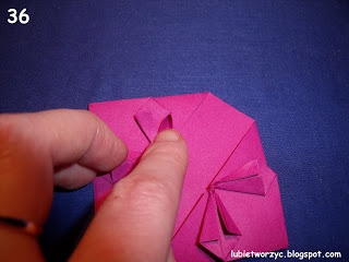 Сердечки-валентинки оригами из бумаги для украшения подарка (42) (320x240, 50Kb)