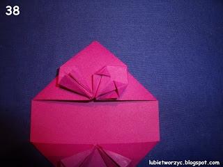 Сердечки-валентинки оригами из бумаги для украшения подарка (44) (320x240, 52Kb)