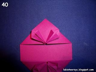 Сердечки-валентинки оригами из бумаги для украшения подарка (46) (320x240, 58Kb)