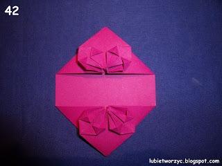 Сердечки-валентинки оригами из бумаги для украшения подарка (48) (320x240, 50Kb)