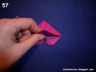 Сердечки-валентинки оригами из бумаги для украшения подарка (64) (320x240, 37Kb)