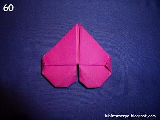 Сердечки-валентинки оригами из бумаги для украшения подарка (68) (320x240, 54Kb)