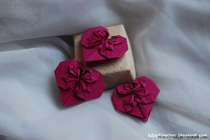 Сердечки-валентинки оригами из бумаги для украшения подарка (70) (700x468, 178Kb)