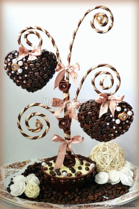 Кофейное дерево сердце с фото