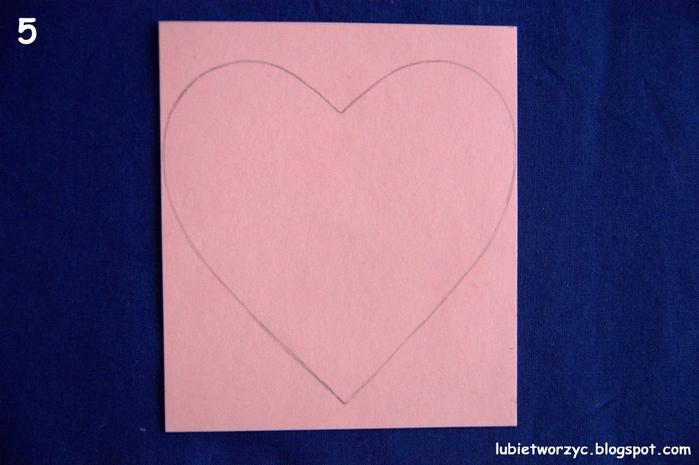 Валентинка из бумажных розочек для создания панно или открытки ручной работы (4) (700x465, 218Kb)