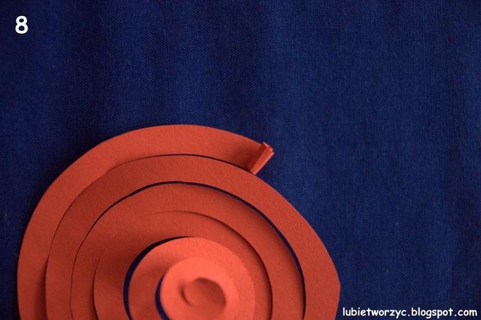 Валентинка из бумажных розочек для создания панно или открытки ручной работы (9) (700x465, 252Kb)