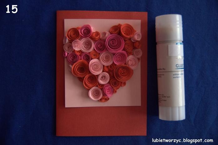 Валентинка из бумажных розочек для создания панно или открытки ручной работы (16) (700x465, 207Kb)