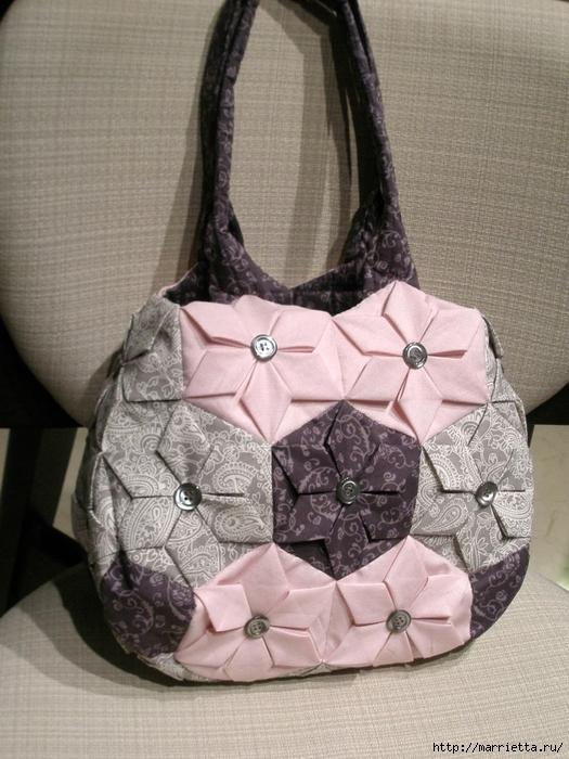 сумочки в технике оригами. шьем сами (8) (525x700, 302Kb)