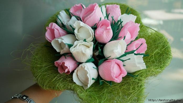 Цветы из гофрированной бумаги «женское счастье»