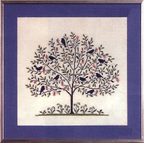 Вышивка крестом, схемы Дерево.