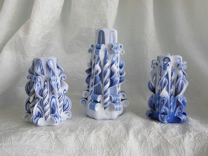 Ажурные двухцветные свечи