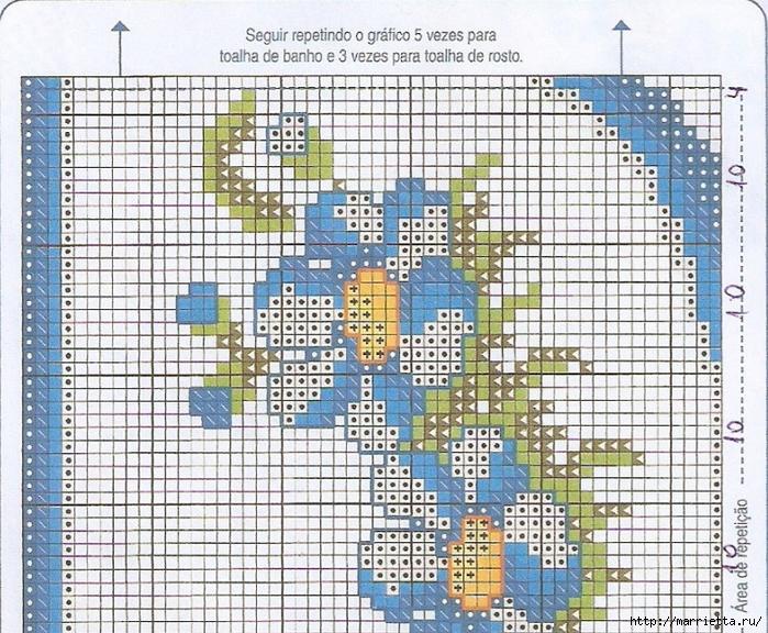 Схемы вышивки крестом для салфетки и полотенца (5) (700x576, 447Kb)