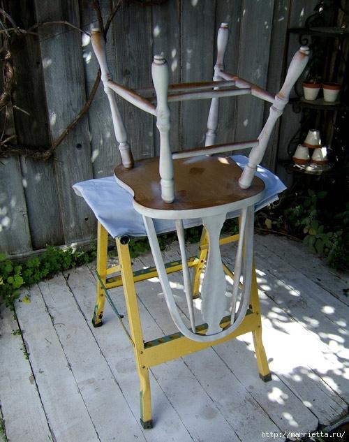 Кухонный стул с эффектом градиента. Реставрация мебели (5) (500x633, 228Kb)
