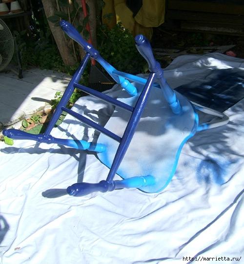 Кухонный стул с эффектом градиента. Реставрация мебели (9) (500x542, 194Kb)