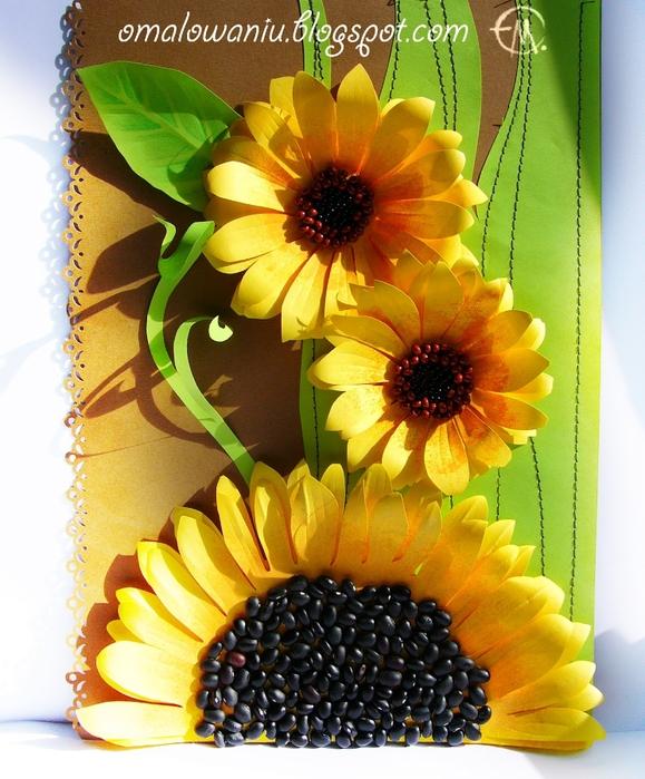 Цветы из бумаги. ПОДСОЛНУХИ (17) (579x700, 329Kb)