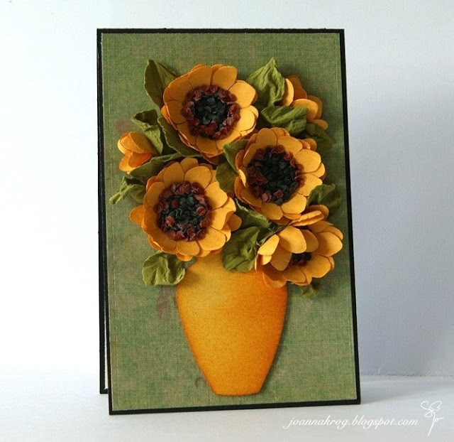 Цветы из бумаги. ПОДСОЛНУХИ (21) (640x622, 222Kb)
