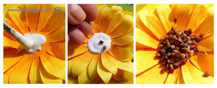 Цветы из бумаги. ПОДСОЛНУХИ (24) (700x284, 165Kb)