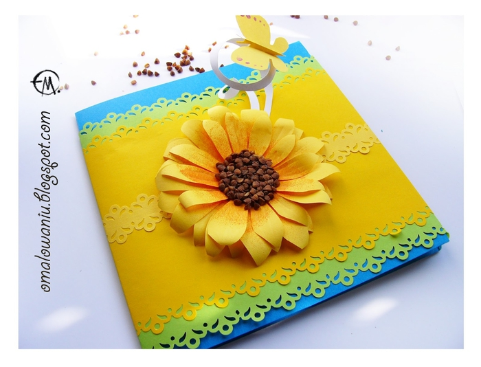 Цветы из бумаги. ПОДСОЛНУХИ (26) (700x534, 213Kb)