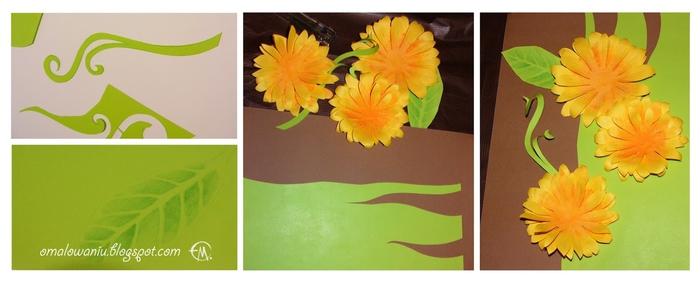 Цветы из бумаги. ПОДСОЛНУХИ (30) (700x284, 131Kb)