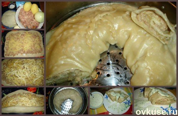 Ленивые манты рецепт пошагово