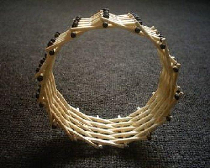 Колесо из спичек, собранное