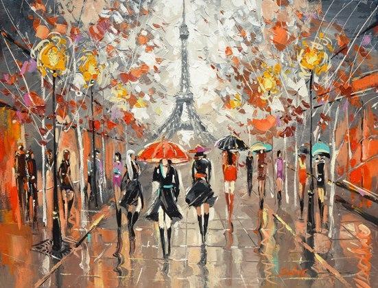 Дождливый город. Evening