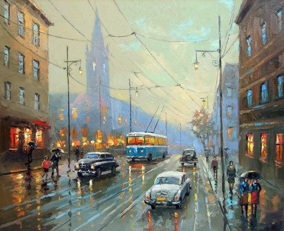 Дождливый город (567x460