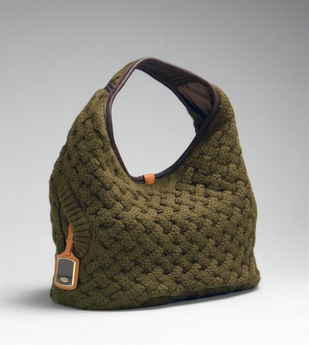 Стильная сумка спицами от UGG,