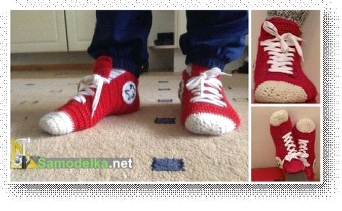 Вязаные носки как кроссовки и
