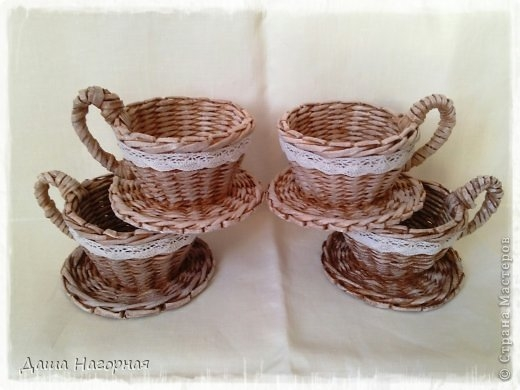 Плетение из газет. Чайные чашки. Мастер-класс (1) (520x390, 101Kb)
