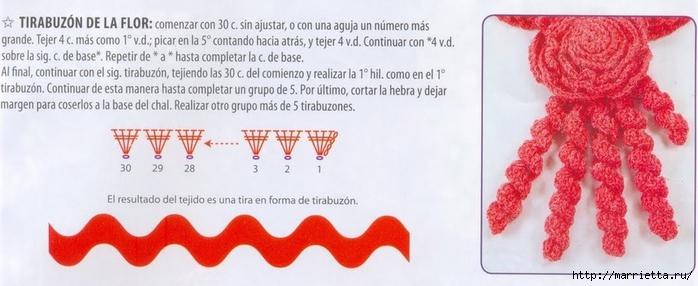 Две шали и цветочный воротничок крючком. Схемы (2) (700x286, 162Kb)