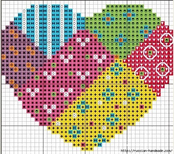 Схемы вышивки для валентинок (1) (569x505, 358Kb)