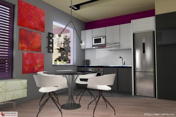 Сиреневый цвет в интерьере. Стильный дизайн (14) (700x465, 137Kb)