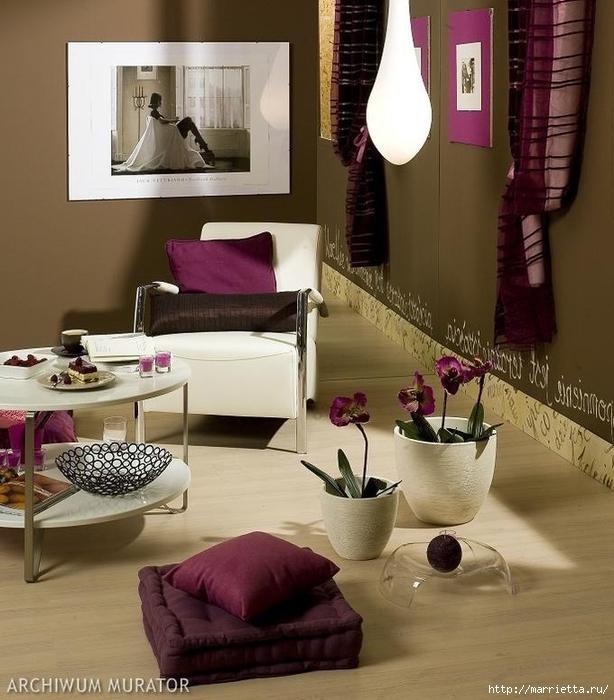Сиреневый цвет в интерьере. Стильный дизайн (32) (614x700, 274Kb)