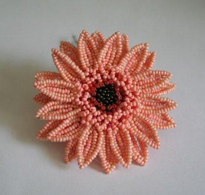 Гербер - плетение из бисера